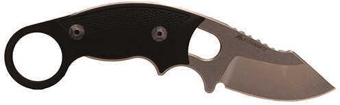 "Hogue EXF03 Karam 2.25"" Clip Point Blade G10 Black 2 Black Sheath Md: 35339"