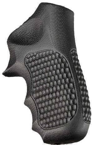 Hogue Ruger LCR Grip Enclosed Hammer, Pirahna G10, Solid Black Md: 78139