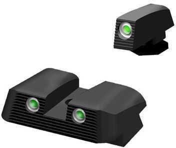 HiViz Sight Systems HiViz NITESIGHT™ Tritium Front & Rear Set for Glock45 ACP, 10mm & 45 GAP