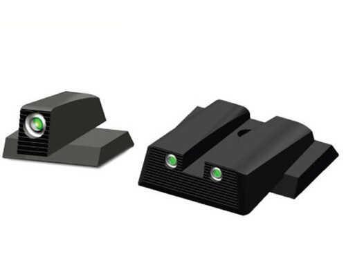 HiViz Sight Systems Hi-Viz Tritium Sight M&P Shield 9MM, 40S&W Front/Rear MPSN121