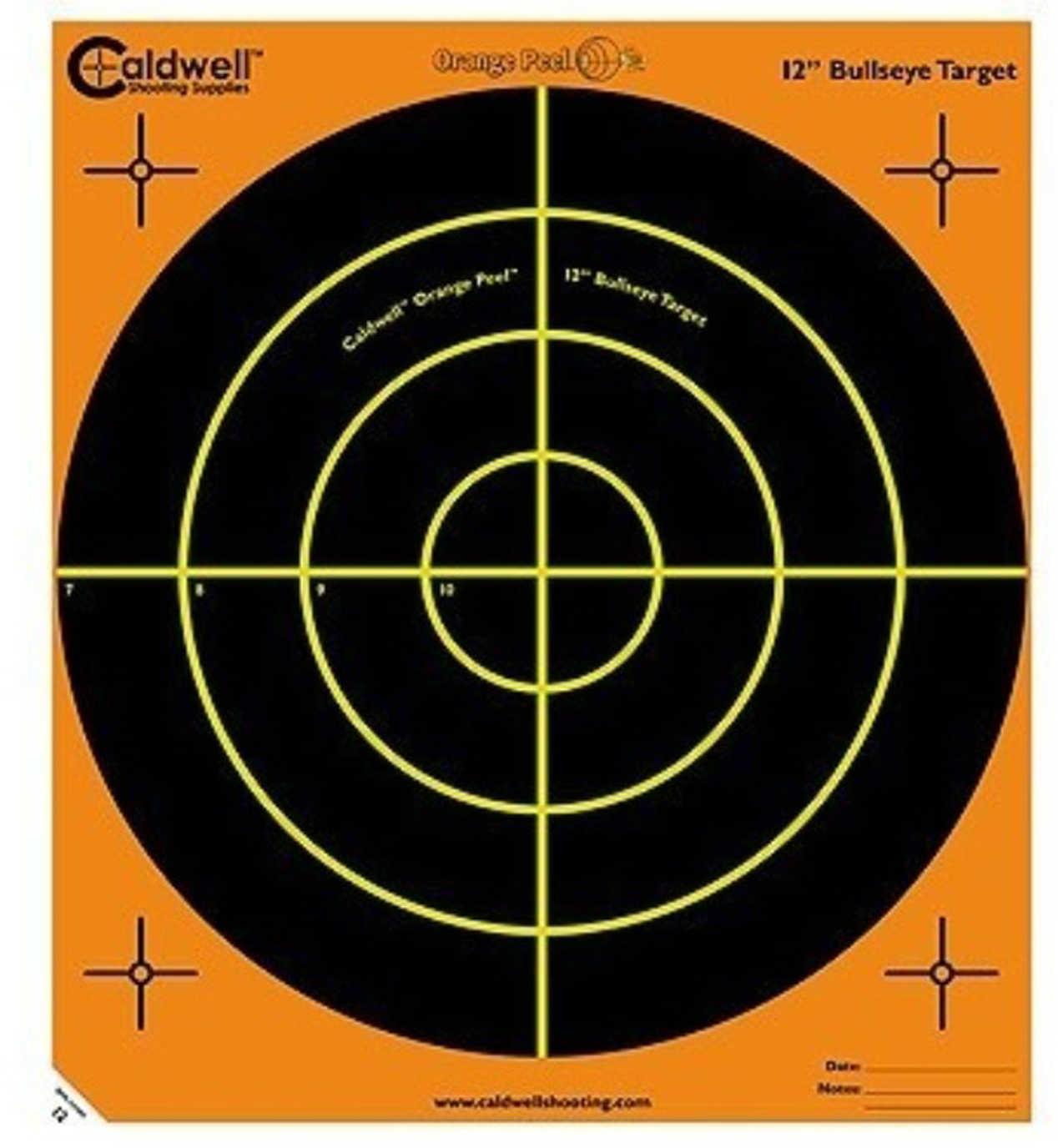"""PAST Caldwell 5 Pack 12"""" Orange Peel Targets Md: 120556"""