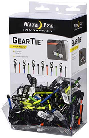 Nite Ize Gear Tie ClippableTwist Tie Gravity Bin 100 Pieces Md: GLZGB-A2-R9