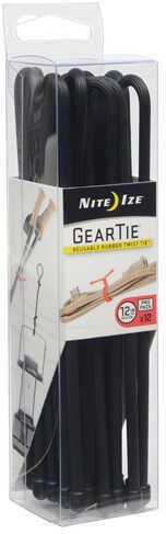 "Nite Ize Gear Tie ProPack 12"" Black 12 Pack Md: GTPP12-01-R8"