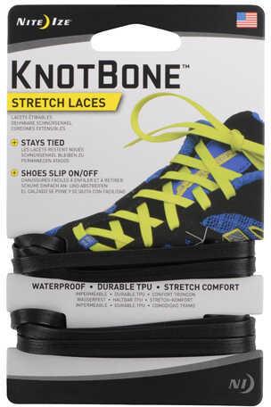 Nite Ize KnotBone Stretch Laces Black Md: KBL-01-2R7