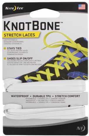 Nite Ize KnotBone Stretch Laces White Md: KBL-02-2R7