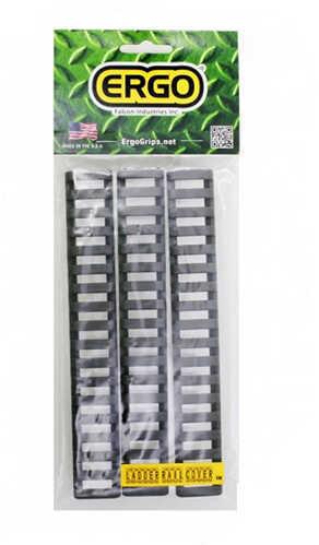 Ergo 18 Slot Ladder Low Pro Rail Covers, 3-Pack Gray Md: 4373-3PK-GG