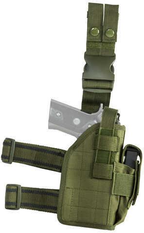 NcStar Vism Drop Leg Universal Holster, Green Md: CVDLHOL2954G