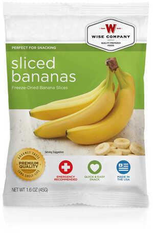 Wise Foods Fruit Sliced Bananas, 4 Servings Md: 2W02-401