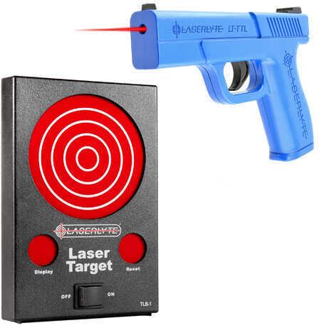 LaserLyte Laser Bullseye Kit: Pistol Full & Laser Target Md: TLB-LBK