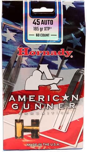 Hornady XTP American Gunne 45 Automatic Colt Pistol 185 Grain Ammunition, 60 Rounds Per Box