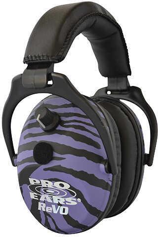 Pro Ears ReVO Electronic Noise Reduction Rating 25dB, Purple Zebra Md: ER300PUZ
