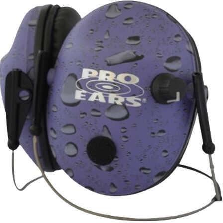Pro Ears Pro 200 Behind the Head Noise Reduction Rating 19dB, Purple Rain Md: P200PUBHR
