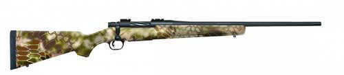 """Mossberg Patriot Bolt Action Rifle  243 Winchester  22"""" Fluted Matte Blued Barrel  Synthetic Kryptek Hignlander Camo Stock"""