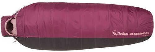 Big Agnes Women's Lulu 15 Rectangular Sleeping Bag Insotect Hot Stream, Rose/Coffee, Petite, Right Hand Zip Md