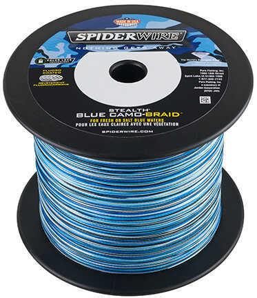 "Spiderwire Stealth Braid 3000 Yards, 10 lbs Strength, 0.008"" Diameter, Blue Camo Md: 1370462"