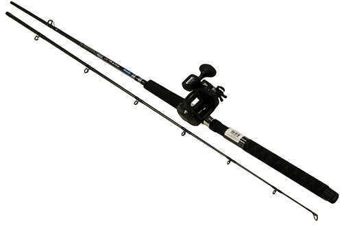"Okuma Great Lakes Trolling Combo 7'6"" Length, 2 Piece Rod, Medium/Light Action, 2BB Bearings Md: CP-"