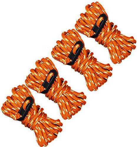Ultimate Survival Technologies Guy Line Reflective, Orange/Reflective,, 4 Pack Md: 20-02096-08