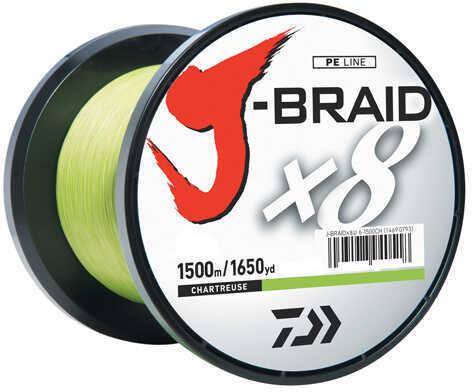 Daiwa J-Braid Braided Line, 30 lbs Tested 1650 Yards/1500m Filler Spool, Chartreuse Md: JB8U30-1500CH