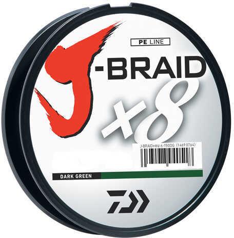 Daiwa J-Braid Braided Line, 65 lbs Tested 330 Yards/300m Filler Spool, Dark Green Md: JB8U65-300DG