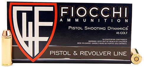 Fiocchi Ammo .45 Long Colt 255 Grains, Complete Metal Jacket, Per 50 Md: 45LCCMJ