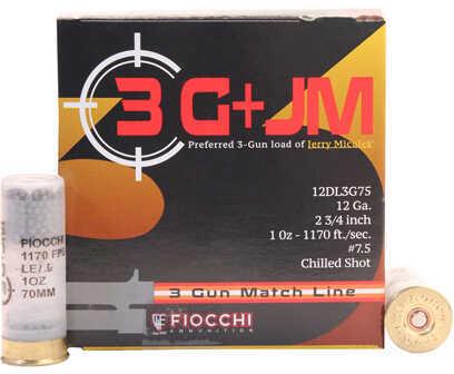Fiocchi Ammo Fiocchi 3 Gun Match, 12 Gauge 2.75 Inch 1 Ounce #7.5 Shot Shotshells, 25 Per Box
