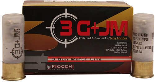 """Fiocchi Ammo 3 Gun Match, 12 Gauge 2 3/4"""", #00 Buck, Lead Shot, Per 10 Md: 12BK3G00"""