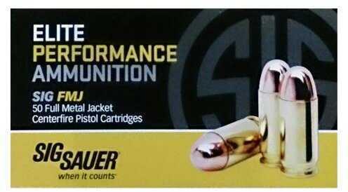 Sig Sauer Elite Performance 38 Super, 125 Grain FMJ Amunition, 50 Rounds
