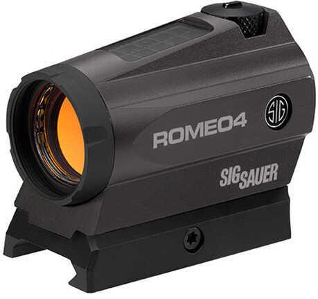 Sig Sauer Romeo 4 Red Dot Sights 2 MOA Red Dot/65 MOA Circle Dot Reticle, .50 MOA Adjustments, Graphite Md: SO