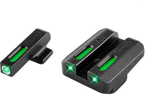 Truglo Front Rear Set Sights TFX Tritium Fiber Optic Set Green, Steel Black, FNX45 Md: TG13FN3A