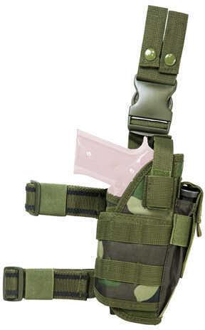 NcStar Drop Leg Tactical Holster Woodland Camo Md: CVDLHOL2955WC
