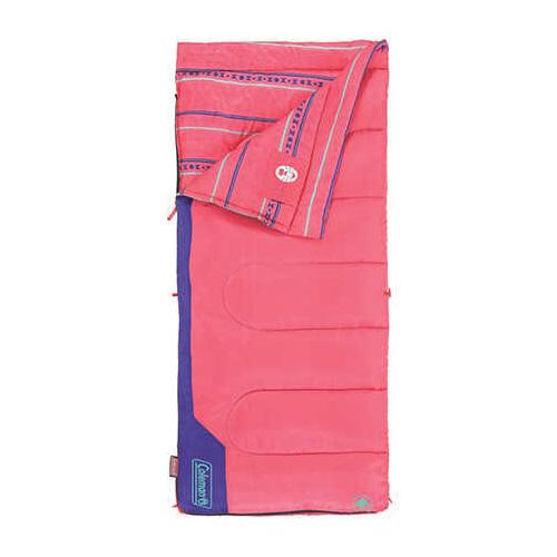 Coleman Sleeping Bag, Rectangular, Youth Pink Md: 2000025289