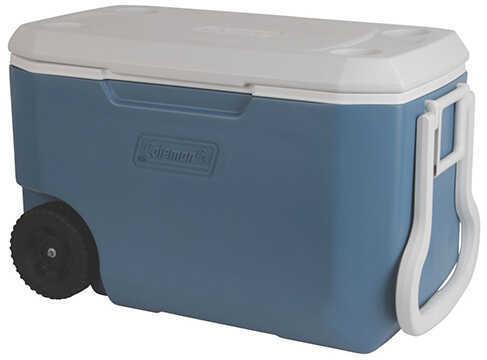 Coleman 62 Quart Wheeled Cooler, Blue/White Md: 3000004025