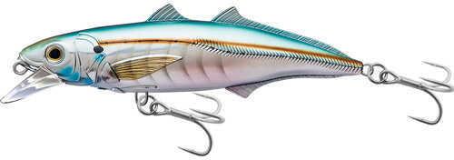 "LIVETARGET Lures / Koppers Fishing and Tackle Corp LiveTarget Lures Cigar Minow Jerkbait 4 1/2"", Number 1/0 Hook Size, 2'-4' Depth, Pearl/Aqua Md: CMJ1"