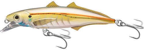 "LIVETARGET Lures / Koppers Fishing and Tackle Corp LiveTarget Lures Cigar Minow Jerkbait 4 1/2"", Number 1/0 Hook Size, 2'-4' Depth, Pearl/Gold Md: CMJ1"