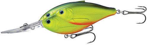 "LIVETARGET Lures / Koppers Fishing and Tackle Corp LiveTarget Lures Threadfin Shad Crankbait 3 1/2"", Number 1 Hook Size, 20' Depth, Chartreuse/Black"