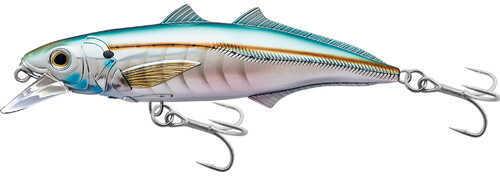 "LIVETARGET Lures / Koppers Fishing and Tackle Corp LiveTarget Lures Cigar Minow Jerkbait 6"", Number 2/0 Hook Size, 2'-6' Depth, Pearl/Aqua Md: CMJ152S9"