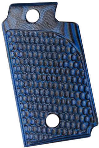 Hogue Sig P938 Ambidextrous Extreme Series Grip Piranha G-Mascus G10, Blue Lava Md: 98628