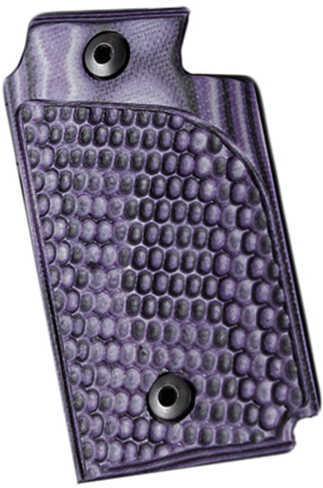 Hogue Sig P938 Ambidextrous Extreme Series Grip Piranha G-Mascus G10, Purple Lava Md: 98728