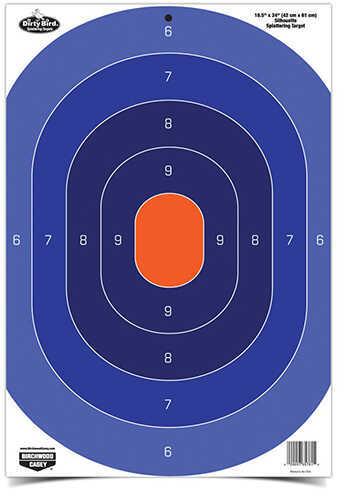 "Birchwood Casey Dirty Bird Silhouette Target 16.50"" x 24"", Oval, Blue Orange, 3 Pack Md: 35763"