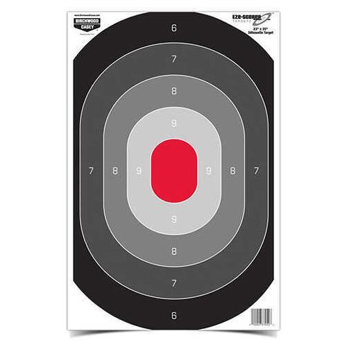 """Birchwood Casey Eze-Scorer Oval Silhoutte Target 23"""" x 35"""", Per 5 Md: 37053"""