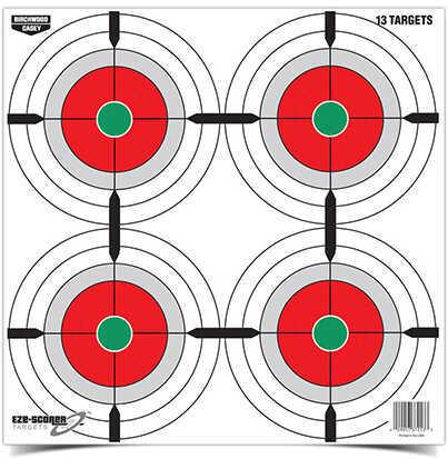 """Birchwood Casey Eze-Scorer Training Target 12"""" Multiple Bull's-Eye, Pack Of 13 Md: 37253"""