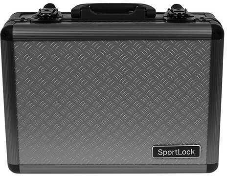 SportLock AlumaLock Double Handgun Case Gray Md: 00400