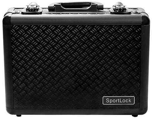 SportLock AlumaLock Double Handgun Case Black Md: 00405
