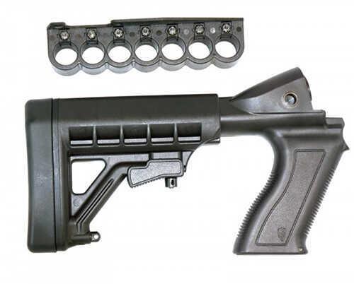 ProMag Remington 870 12ga Shotgun, Adjustable Buttstock, 7 Round Shell Carrier, Black Md: AA87088
