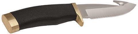 "Buck Knives Buck Zipper 4.25"" Plain Blade, Drop Point, Rubber Handle, Clam Package Md: 0691BKGC"