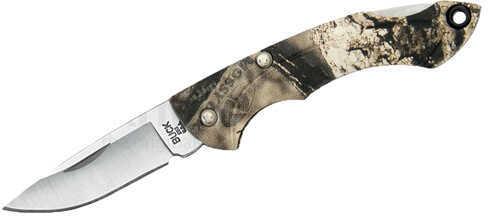 "Buck Knives Nano Bantam 1 7/8"" Plain Satin Blade, Mossy Oak Country Break-Up ETP Handle, Boxed Md: 0283CMS24"