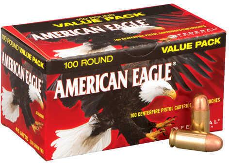 Federal Cartridge 45 Automatic 230 Grains, Full Metal Jacket, Per 100 Md: AE45A100