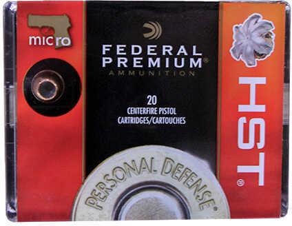 Federal Cartridge Premium, 9mm Luger 150 Grain, JHP 150 Grain, Premium, HST, Jacketed Hollow Point, 20