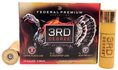 Federal Cartridge 20 Gauge 3rd Degree Turkey 3 Inch 1-3/4 Ounce # 5,6, 7 Shotshells, 5 Rounds Per Box