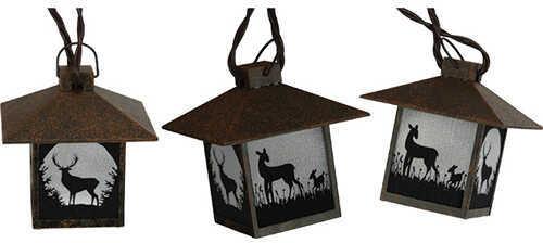 Rivers Edge Products Lantern Light Set Rustic Deer Md: 414